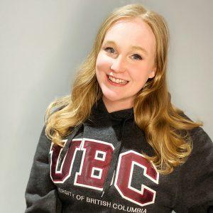 Kim Billinton in a UBC hoodie